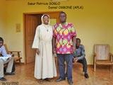 Sœur Paricia SOGLO (Monastère Ste Claire) et Daniel OGBONE (APLK)