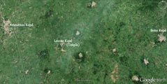 Photo satellite d'Amoussou Kopé (Togo)
