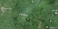 Photo satellite d'Amoussou Kopé (Togo)