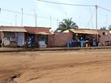 Une rue non bitumée à Lomé
