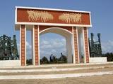 A Ouidha, le monument en bord de mer appelé La porte du non-retour.