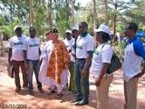 Les responsables d'Aimes Afrique à Lovisa Kopé.