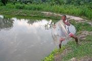 La pêche dans le barrage