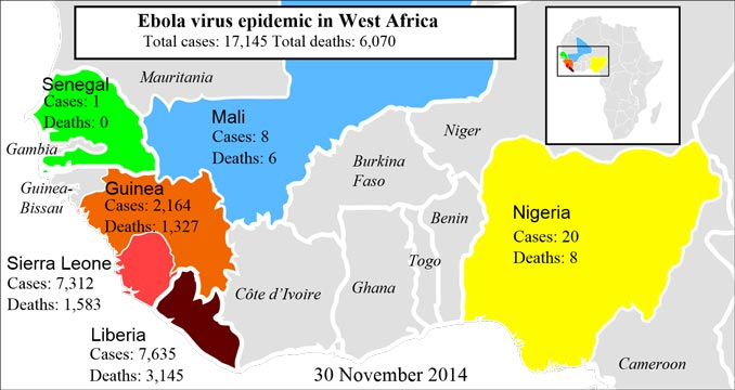 Ebola virus epidemic in West Africa