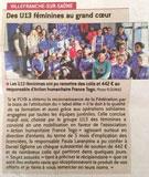 Partenariat avec les féminines U13 du FCVB