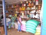 La boutique de farine à Agou